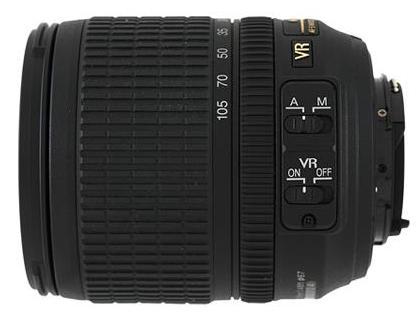 Nikon AF-S DX 18-105mm f3.5-5.6G ED VR lens
