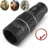 Monocular 16x52 Optics Zoom Lens Camping Hiking