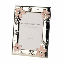 Kenro Solitaire 6x4-Inch Pink Flower Design Photo Frame