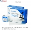 AmScope 50 Pcs Microscope Slides Plus 100 pcs Cover Slide