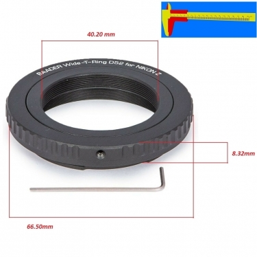 Baader Wide T-Ring For Nikon Z (Bajonet) with D52i to T-2 and S52