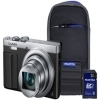 Panasonic DMC-TZ70 Silver Camera Kit inc 32GB Class 10 SDHC Card