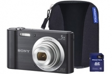 Sony DSC-W800 Black Camera Kit inc 16GB SD Card and Case