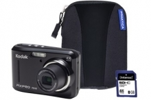 Kodak PIXPRO FZ43 Black Camera Kit with 8GB SDHC Card and Case