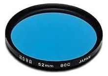 Hoya 55mm Standard 80C Blue Filter