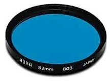 Hoya 82mm Standard 80B Blue Filter