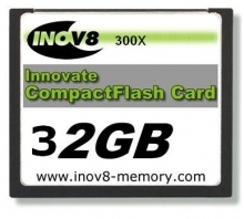 Innovate INOV8 32GB Platinum Xtreme Compact Flash Card 300x