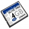 Kingston 4GB Elite Pro Compact Flash Card - CF/4GB-S