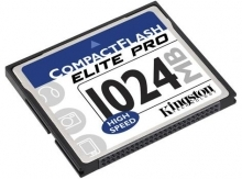 Kingston 1GB Elite Pro 50X Compact Flash Card - CF/1024-S