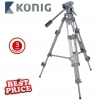 Konig 3-Level Heavy Duty Camera Tripod - Grey