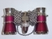 Opera Glasses Burgundy Silver 3x25 Carmen with Red Light