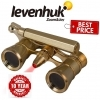 Levenhuk Broadway 325N Opera Glasses Gold Lorgnette with LED