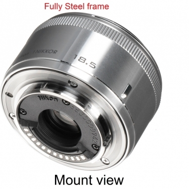 Nikon 1 Nikkor 18.5mm f/1.8 Lens For CX Format Silver