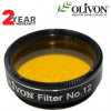 "Olivon 1.25"" High-Quality Yellow #12 Filter"