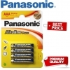 Panasonic Alkaline Power AAA LR03 Batteries - 10 Pack