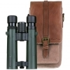 Praktica Pioneer 10x34mm Green Binoculars with Heritage Brown Case