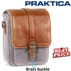 Praktica Heritage Binocular Shoulder Case Bag Grey/Tan Canvas