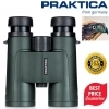 Praktica Odyssey 8x42mm Green Waterproof FMC Optics Binoculars
