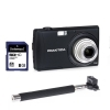 Praktica Luxmedia Z250 Black Camera with 8GB Card & Selfie Stick