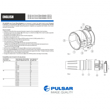 Pulsar FN 56mm Cover Ring Adapter