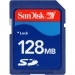 SanDisk 128mb 128-MB Secure Digital (SD) Memory Card.