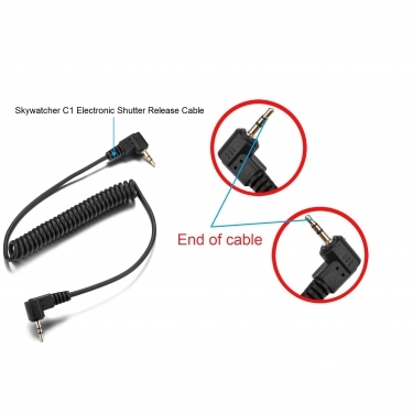 Skywatcher C1 Electronic Shutter Release Cable For Canon