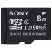Sony SR8UYA 8Gb Class 10 microSDHC Memory Card with Adapter
