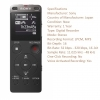 Sony ICD-UX560 Digital Voice Recorder (Black)