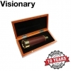 Visionary Spyglass 25×30 Brass Draw Tube In Wooden Box