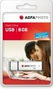 Agfa Photo 8GB USB Flash Drive 2.0 Silver