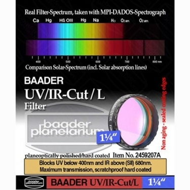 Baader 1.25 inch UV IR Cut L-Filter with Low Profile Filter Cell