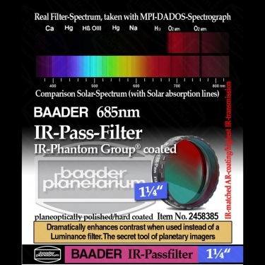 Baader IR pass filter 1.25-inch for infrared astro photography