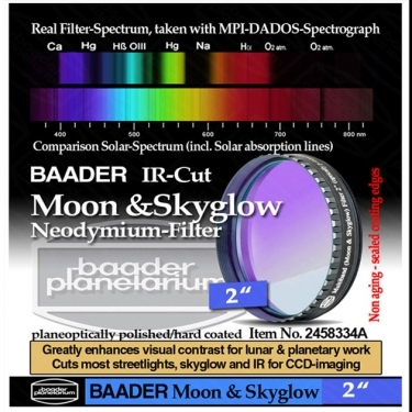 Baader Neodymium Moon and Skyglow 2 inch Filter with IR Cut