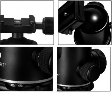 Benro B4 Dual Action Ball Head With PU-85 Quick Release Plate