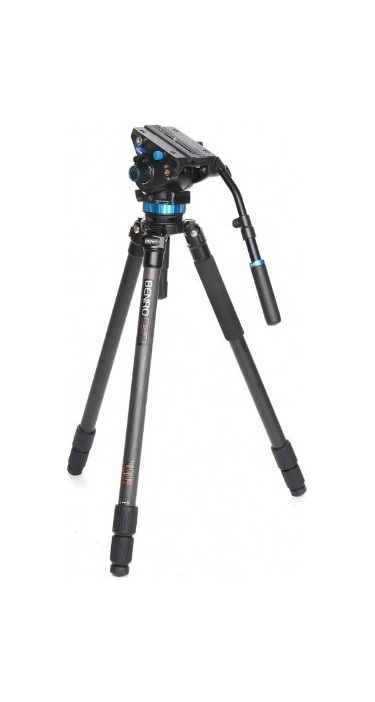 Benro C373TS8 Carbon Fiber S Series Video Tripod Kit With