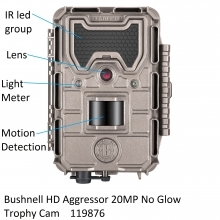 Bushnell 20MP HD Aggressor No Glow Trophy Cam