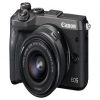 Canon EOS M6 CSC Camera Black + EF-M 15-45mm Lens
