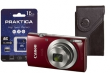 Canon IXUS 185 Camera Kit inc 16GB SD Card and Case - Red