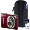 Canon IXUS 185 Camera Kit inc 8GB SD Card and Case - Red