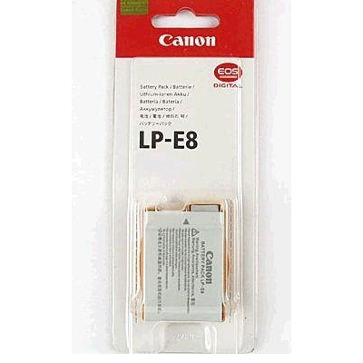 Canon LP-E8 Rechargeable Lithium-Ion Battery (7.2V, 1120 mAh)