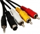 Canon STV-250N Mini A/V Male to 3 RCA Male A/V Cable