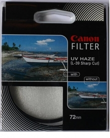 Canon 72mm UV (Ultra Violet) Glass Filter (L-39 Sharp Cut)