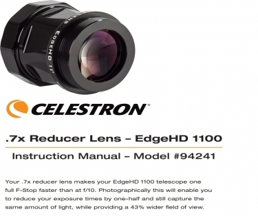 Celestron 0.7x Edge HD Reducer Lens For EdgeHD 1100 Telescope
