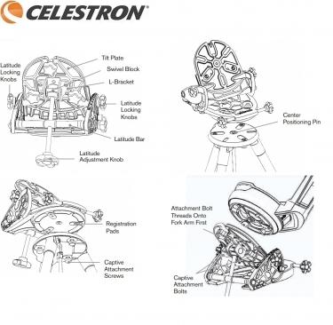 Celestron Wedge for NexStar Evolution and SE 6/8 Mounts