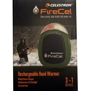 Celestron Elements FireCel Hand Warmer LED Flashlight Power-Pack
