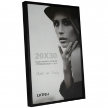 Dorr 12x8-Inch Signa Brushed Aluminium Black Photo Frame