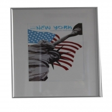 Dorr 16x16-Inch Square New York Silver Photo Frame