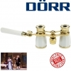 Dorr Danubia 3x25mm Opera Pearl And Gold Binoculars With Handle