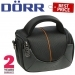 Dorr Yuma Shoulder Photo Bag - XS Black and Orange