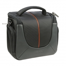 Dorr Yuma Photo Shoulder Bag - Medium Black and Orange